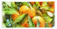 Oranges In Napoli Hand Towel by Michael Flood