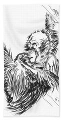 Orangutan Baby 2 Hand Towel