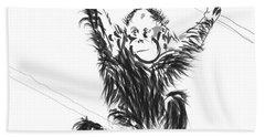 Orangutan Baby Hand Towel