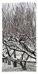Orchard In Winter Bath Towel