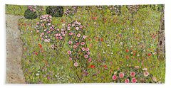 Orchard With Roses Obstgarten Mit Rosen Hand Towel