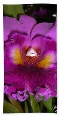 Orchid Flames Bath Towel