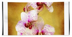 Hand Towel featuring the photograph Orchid Cascade Square by Andee Design