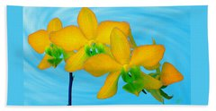 Orchid In Yellow Bath Towel