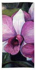 Orchid Hand Towel by Irina Sztukowski