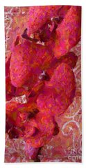 Orchid On Fabric Hand Towel by Barbie Corbett-Newmin