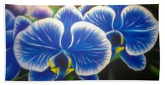 Orchid-strated Blues Hand Towel
