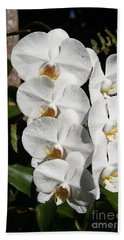 Hand Towel featuring the photograph Orchids Anna by The Art of Alice Terrill