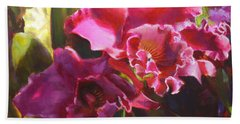 Orchids In Magenta Bath Towel