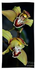 Orchids In The Evening Hand Towel by Kaye Menner
