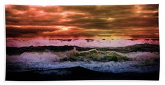 Ocean Storm Bath Towel by Aaron Berg