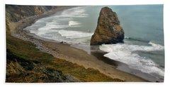 Oregon Coast Bath Towel by Priscilla Burgers