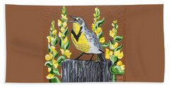 Oregon Meadowlark Bath Towel