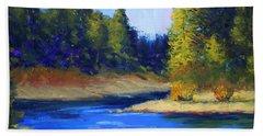 Oregon River Landscape Bath Towel