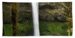 Oregon Waterfall Woodland Hand Towel by Andrea Hazel Ihlefeld
