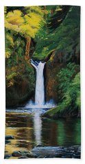 Oregon's Punchbowl Waterfalls Hand Towel