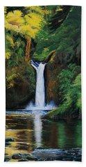 Oregon's Punchbowl Waterfalls Bath Towel