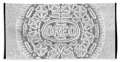 Oreo In Grey Hand Towel by Rob Hans