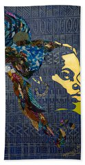 Bath Towel featuring the tapestry - textile Ori Dreams Of Home by Apanaki Temitayo M