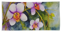 Orchids In My Garden Hand Towel