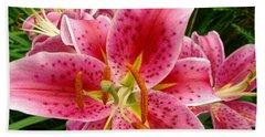 Oriental Lilies Hand Towel