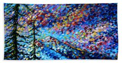 Original Abstract Impressionist Landscape Contemporary Art By Madart Mountain Glory Hand Towel