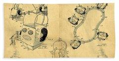 Original Patent For Robot Amusement Park Ride Hand Towel