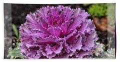 Ornamental Purple - Flower Art Bath Towel