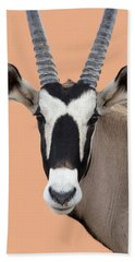 Oryx Portrait Namibia Bath Towel