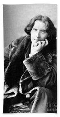 Oscar Wilde In His Favourite Coat 1882 Bath Towel