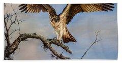 Osprey On The Branch Bath Towel