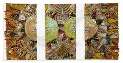 Bath Towel featuring the tapestry - textile Osun Sun by Apanaki Temitayo M