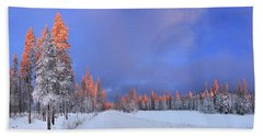 Other Side Of A Winter Sunset Hand Towel by David Andersen