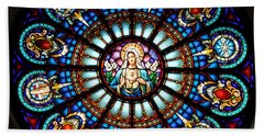 Our Blessed Mother Hand Towel by Debby Pueschel