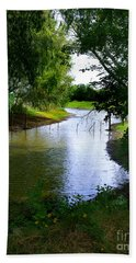 Hand Towel featuring the photograph Our Fishing Hole by Peter Piatt