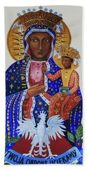 Our Lady Of Czestochowa Bath Towel by Barbara McMahon