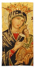 Our Lady Of Perpetual Help  Bath Towel