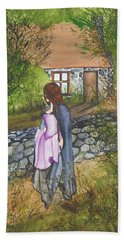 Our Lady Of Salem Bath Towel by Virginia Coyle