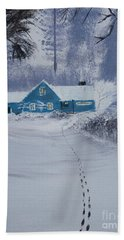 Our Little Cabin In The Snow Hand Towel