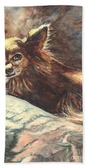 Chihuahua Angel Hand Towel