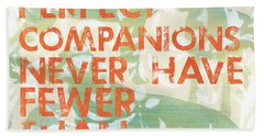 Our Perfect Companion Hand Towel by Debbie DeWitt