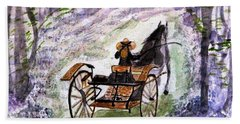 Out In The Meadowbrook Cart Hand Towel