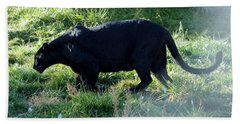 Out Of Africa  Black Panther Bath Towel