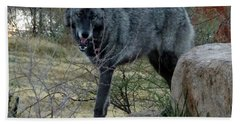Out Of Africa Black Wolf Bath Towel