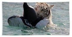 Out Of Africa Tiger Splash 4 Hand Towel
