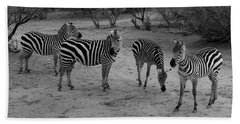 Out Of Africa  Zebras Bath Towel