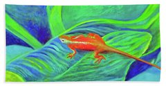 Outer Banks Gecko Hand Towel