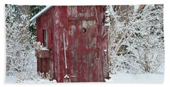 Outhouse Garden Shed In Winter, Marion Hand Towel