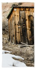 Bath Towel featuring the photograph Outhouse With Electricity by Sue Smith