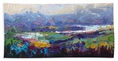 Overlook Abstract Landscape Bath Towel